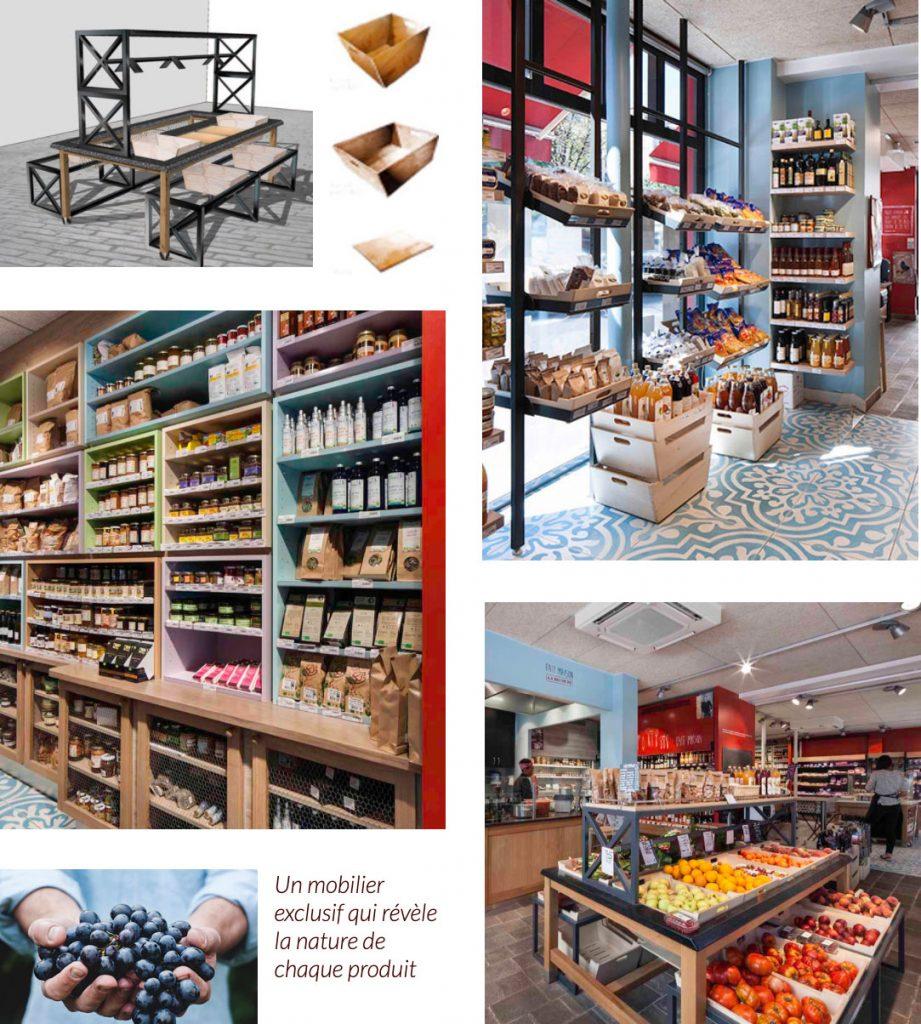 la récolte espace retail boa design architecture intérieure
